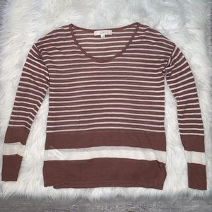 Women's Ann Taylor Loft Striped Long Sleeve